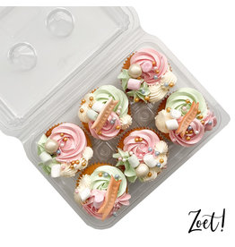 Transparent box for 6 cupcakes (240 pcs.)