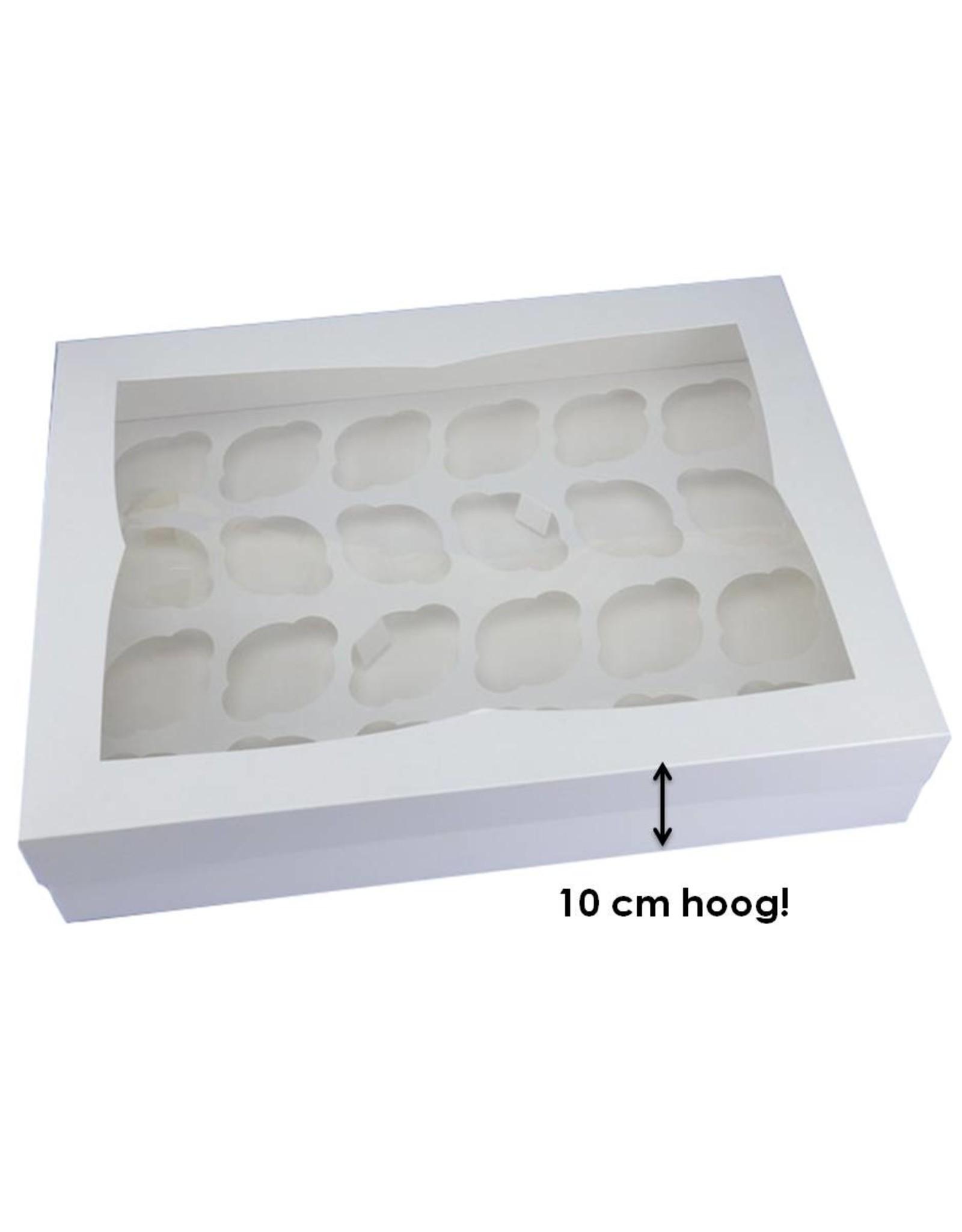 Doos voor 24 cupcakes (per 100 stuks)