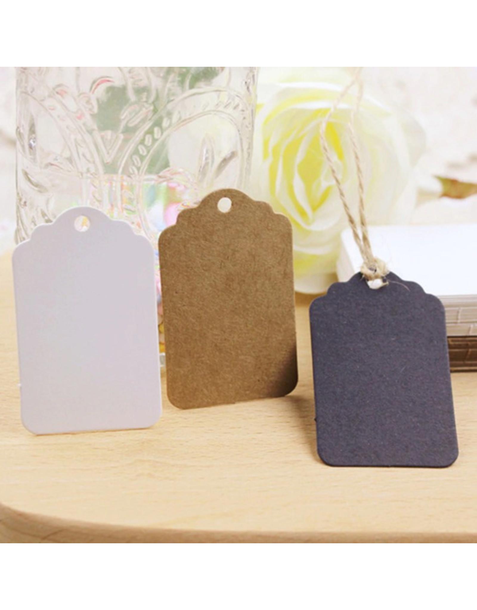 Tags rectangle 5x3 cm (per 100 pieces)