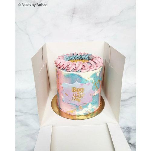 Tall cake box - 22,8 x 22,8 x 20,3 cm (per 50 pieces)
