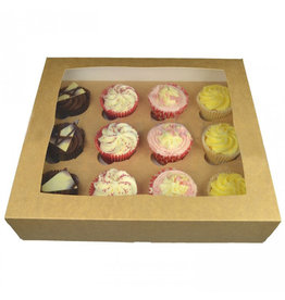 Kraft box for 12 cupcakes (25 st.)
