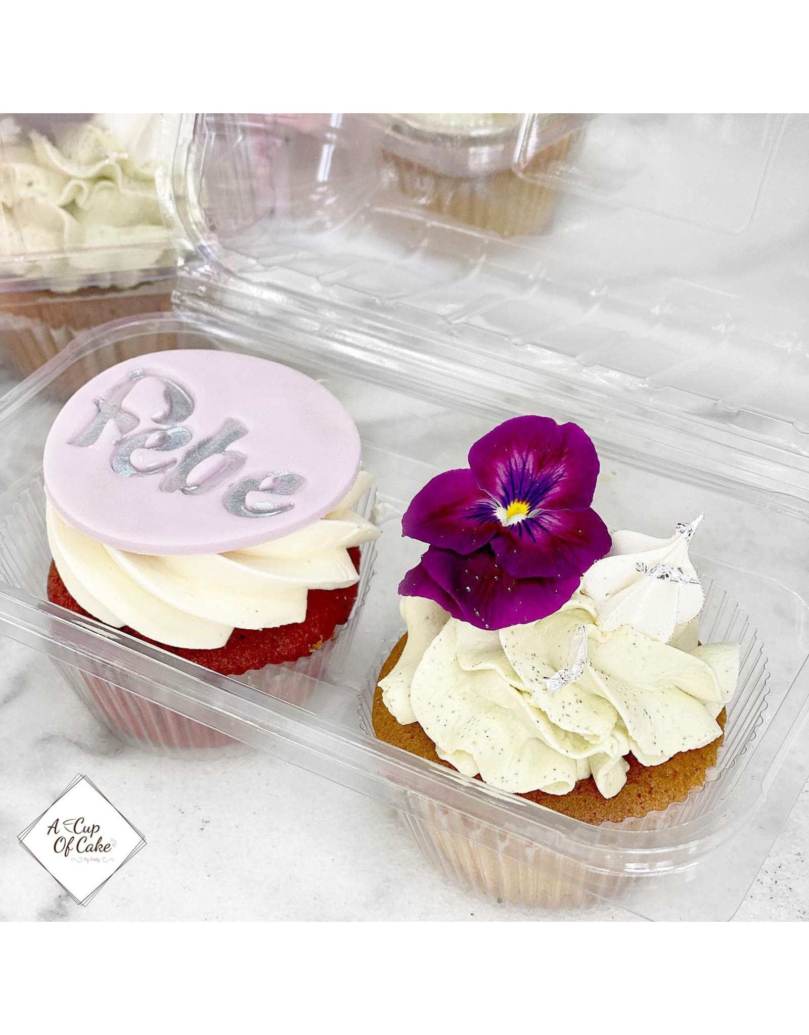 Transparent box for 2 cupcakes (per 228 pieces)