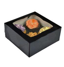 Black box for 4 cupcakes (25 pcs.)