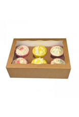 Kraft box for 6 cupcakes (per 25 pieces)