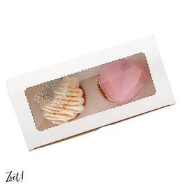 Economy box for 2 cupcakes (10 pcs.)