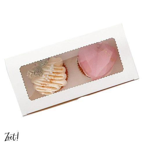 Voordelige doos voor 2 cupcakes (10 st.)
