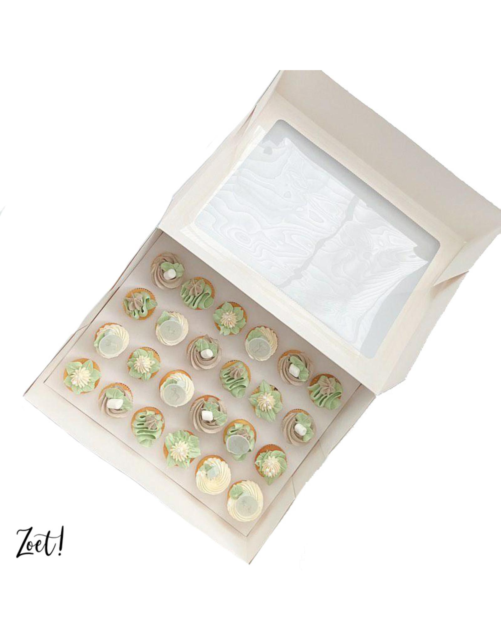 Economy box for 24 mini cupcakes (per 10 pieces)