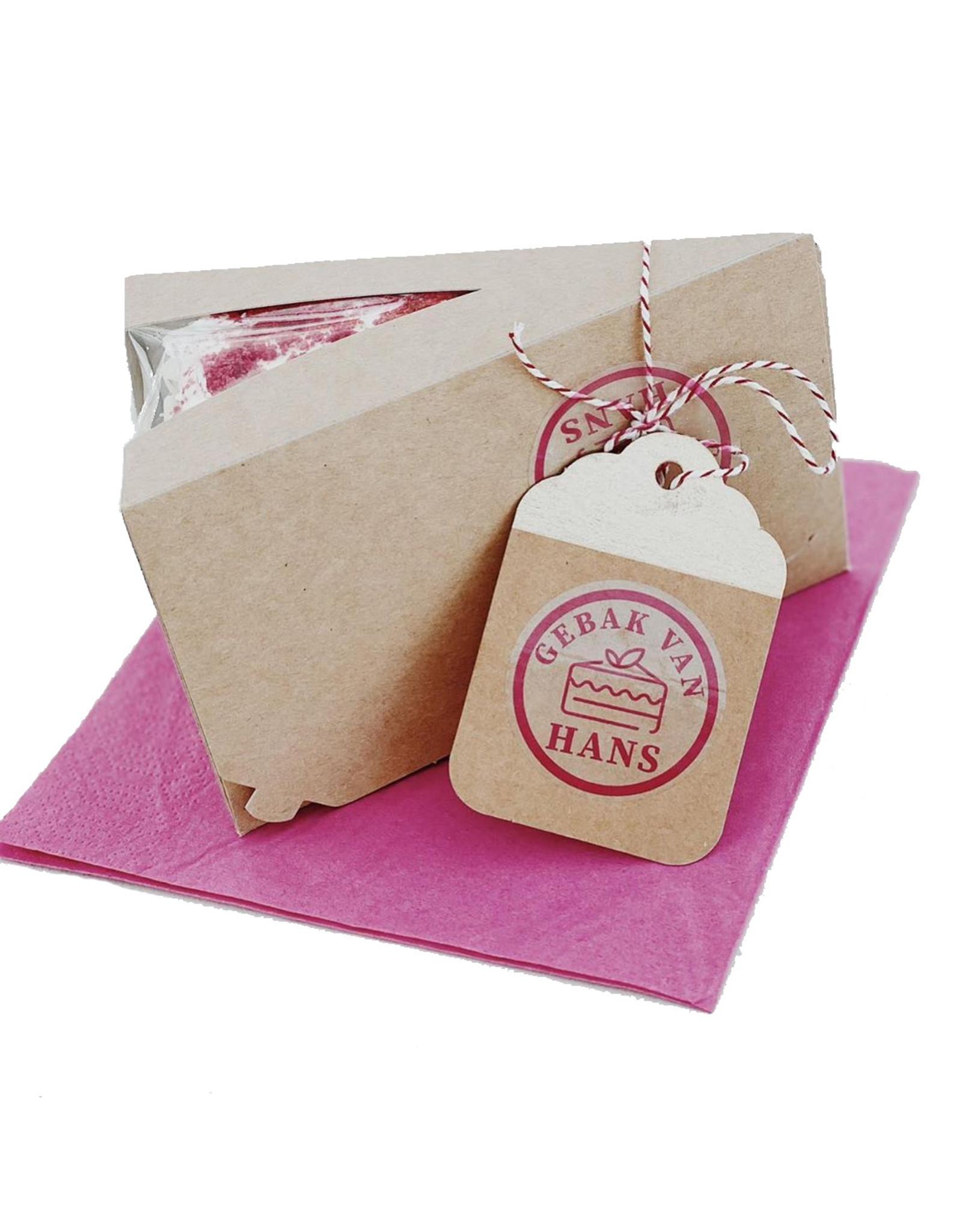 Kraft cake slice box (per 50 pieces)