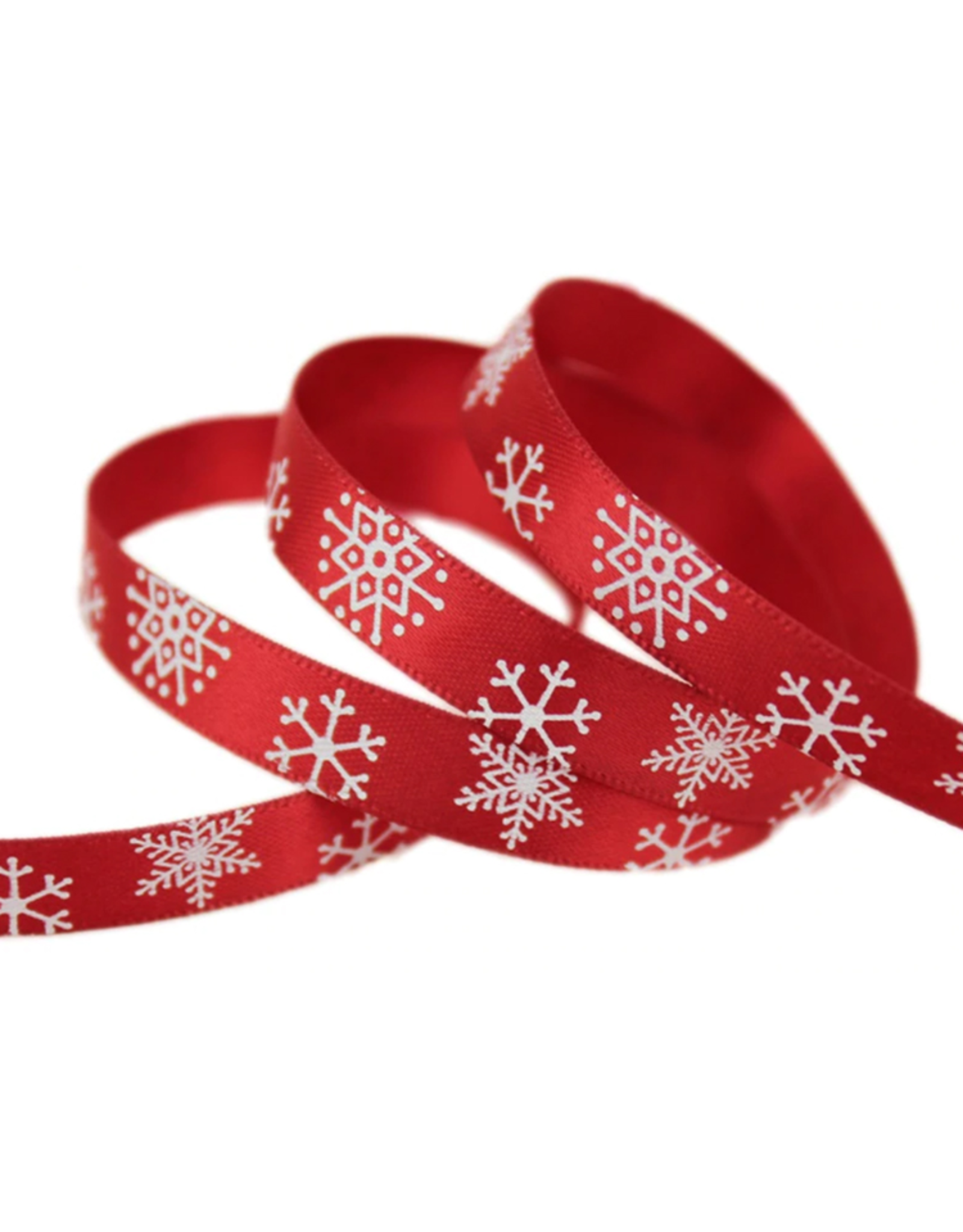 Ribbon snowflakes red (10 mm)