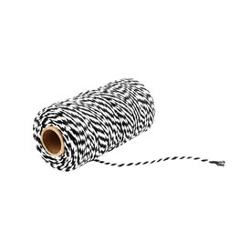 Rope black/white (100 yards)