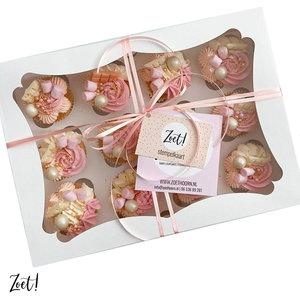 Witte doos voor 12 cupcakes (25 st.)