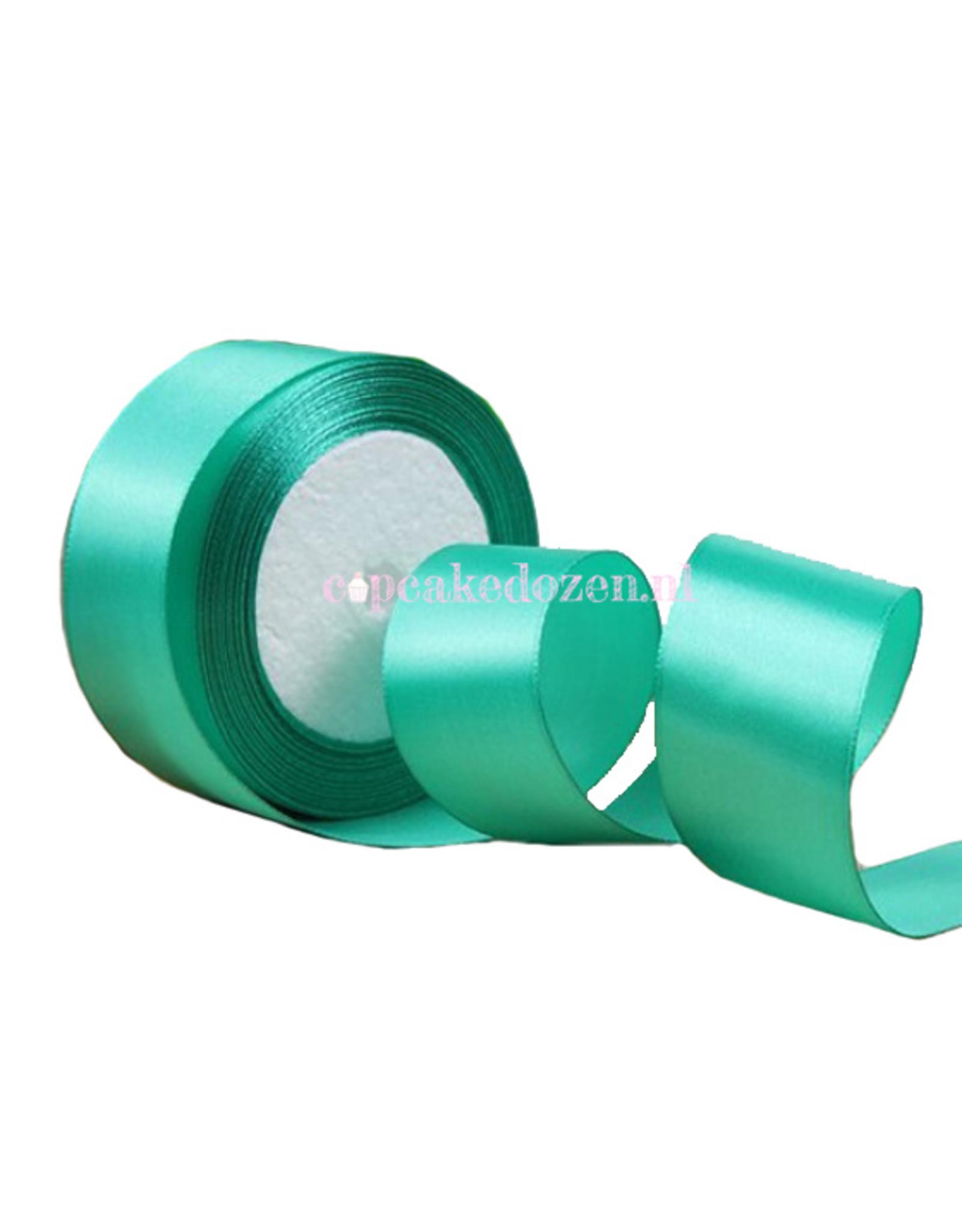 Lint satijn - Turquoise