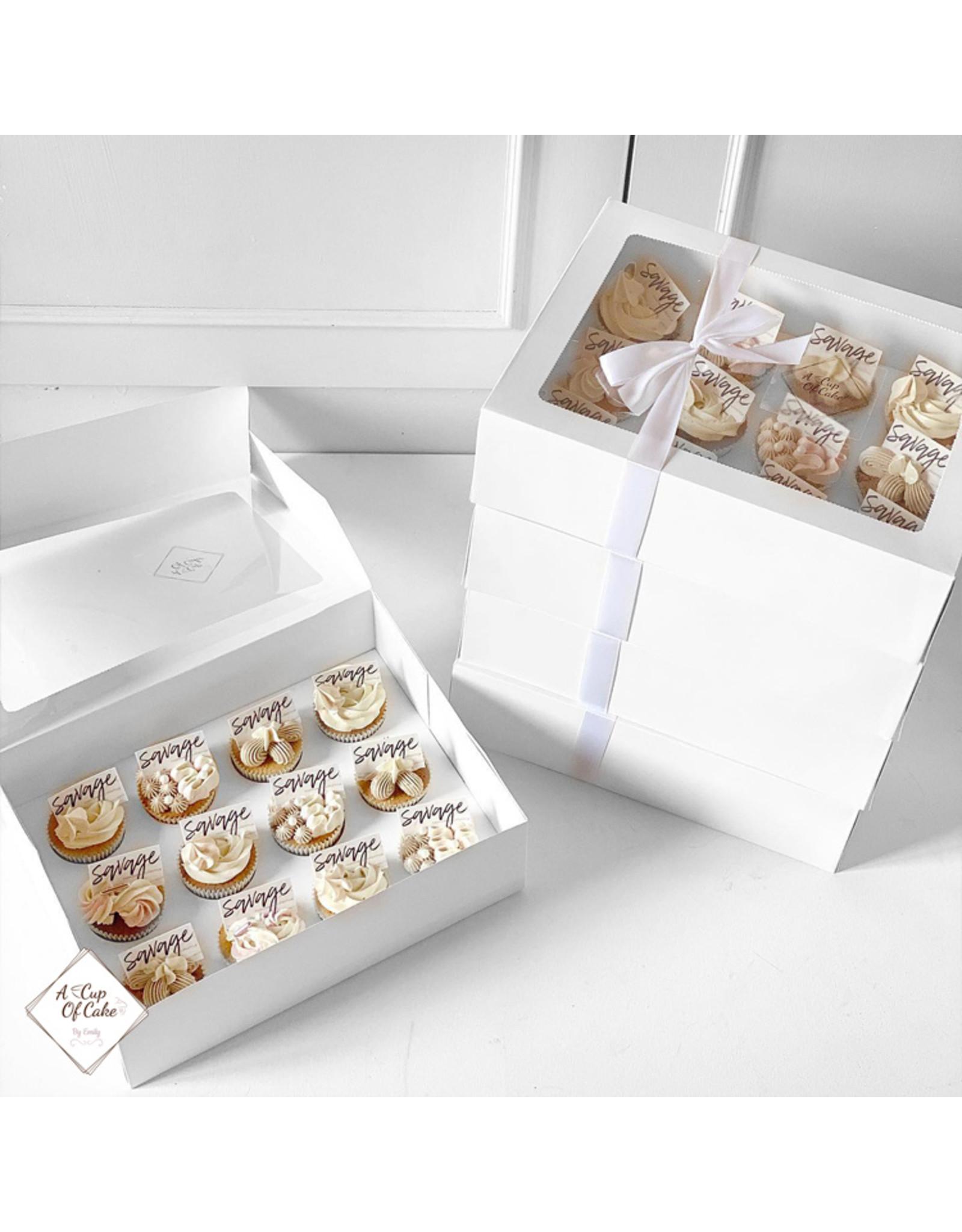Voordelige doos voor 12 cupcakes (per 10 stuks)