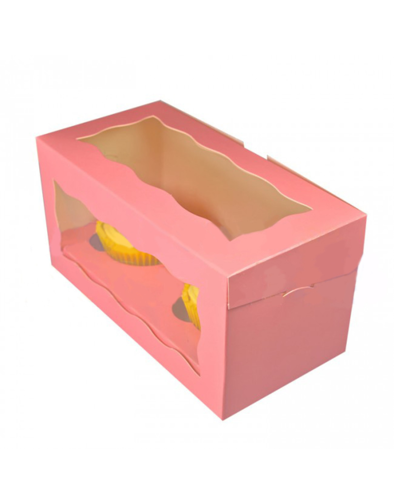 Pink box for 2 cupcakes (per 25 pieces)