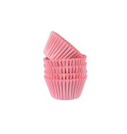 Roze mini baking cups (500 st.)