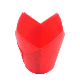 Red tulip baking cases (50 pcs.)