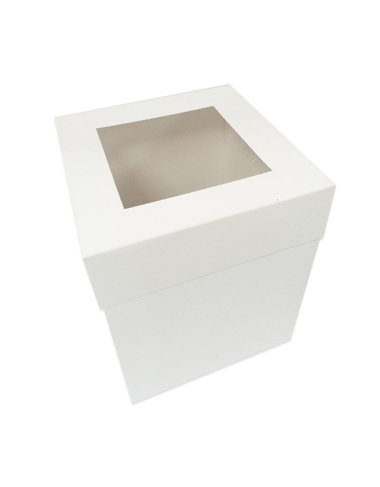 Hoge taartdoos met venster - 305 x 305 x 300 mm (per 50 stuks)