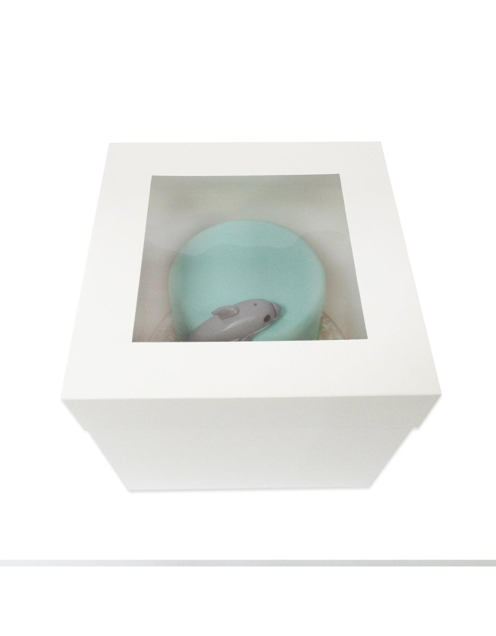 Hoge taartdoos met venster - 356 x 356 x 300 mm (per 50 stuks)
