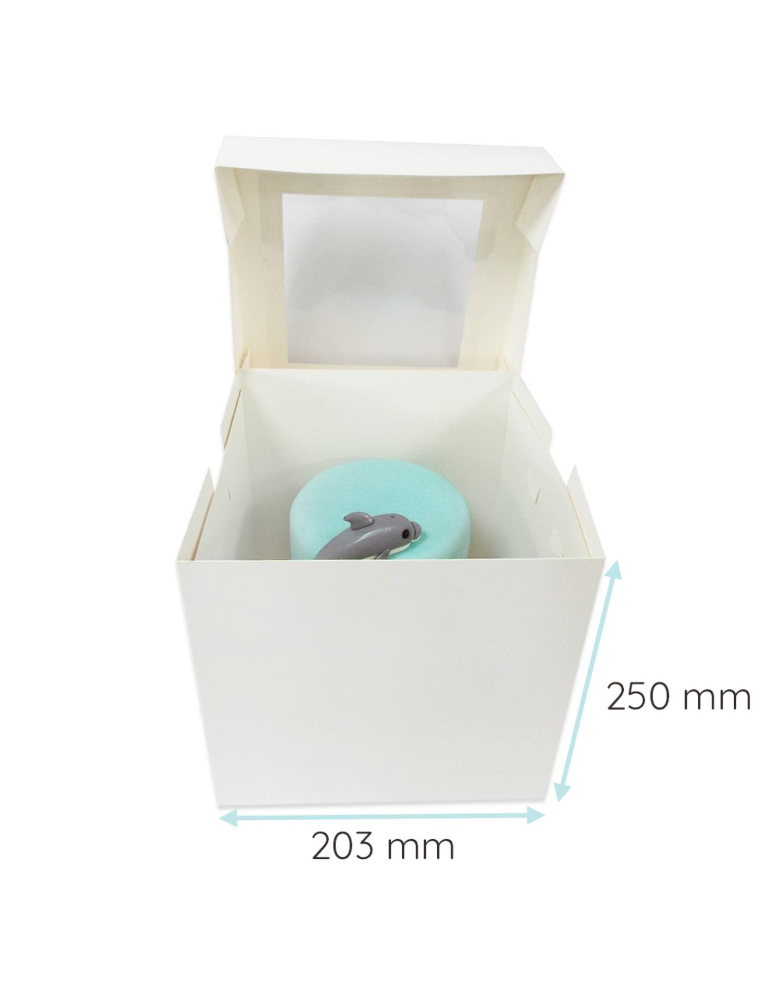 Hoge taartdoos met venster - 203 x 203 x 250 mm (per 50 stuks)