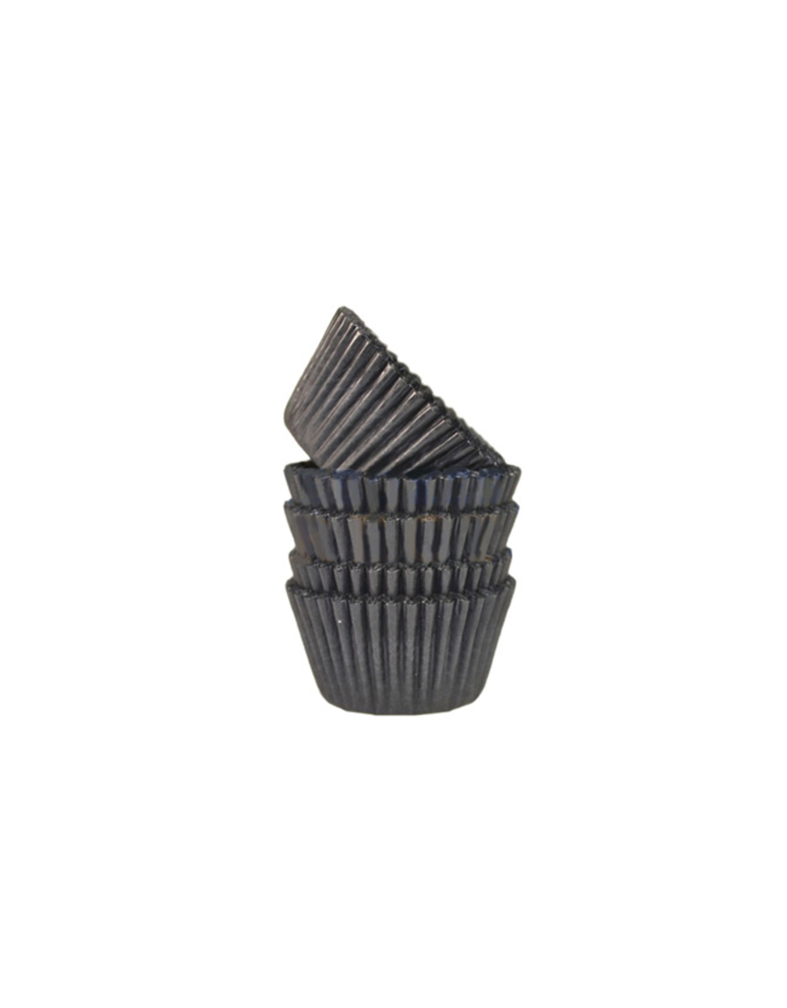Zwarte mini baking cups (500 stuks)