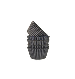 Zwarte mini baking cups (500 st.)