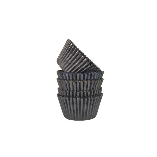Zwarte mini baking cups (500 st.)