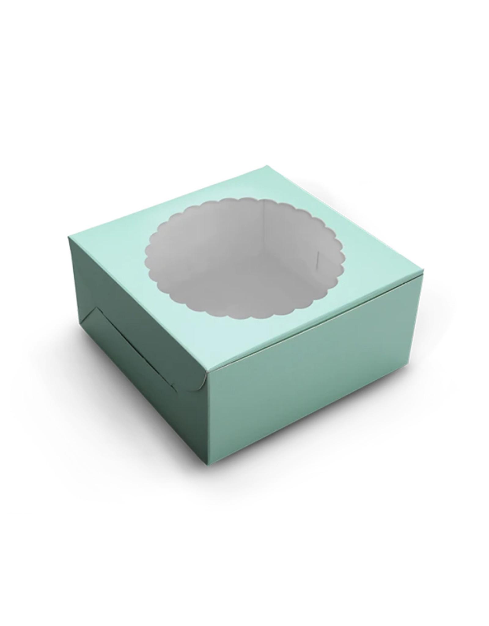 Mint taartdoos met venster - 203 x 203 x 127 mm (per 10 stuks)