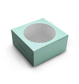 Mint window cake box - 20x20x13 (10 st)