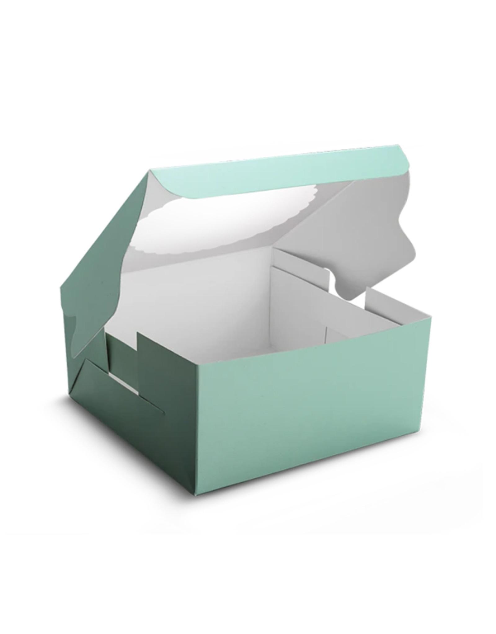 Mint window cake box - 203 x 203 x 127 mm (per 10 pieces)