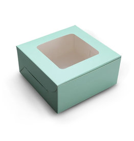 Mint window cake box - 23x23x15 (10 st)