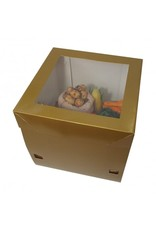Luxury gold cake box - 30x30x30 (25 pieces)
