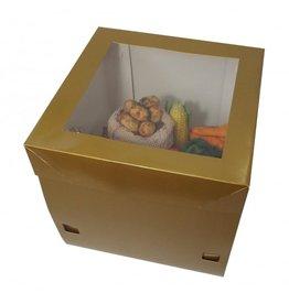 Luxe goudkleurige taartdoos - 30x30x30 (25 st.)