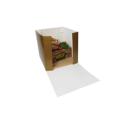Luxe goudkleurige taartdoos - 32x32x31 (25 stuks)