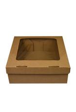 Kraft corrugated box with filmed window - 30x29x10 (per 50 pieces)
