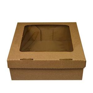 Kraft corrugated box with filmed window - 30x29x10 (50 pc.)