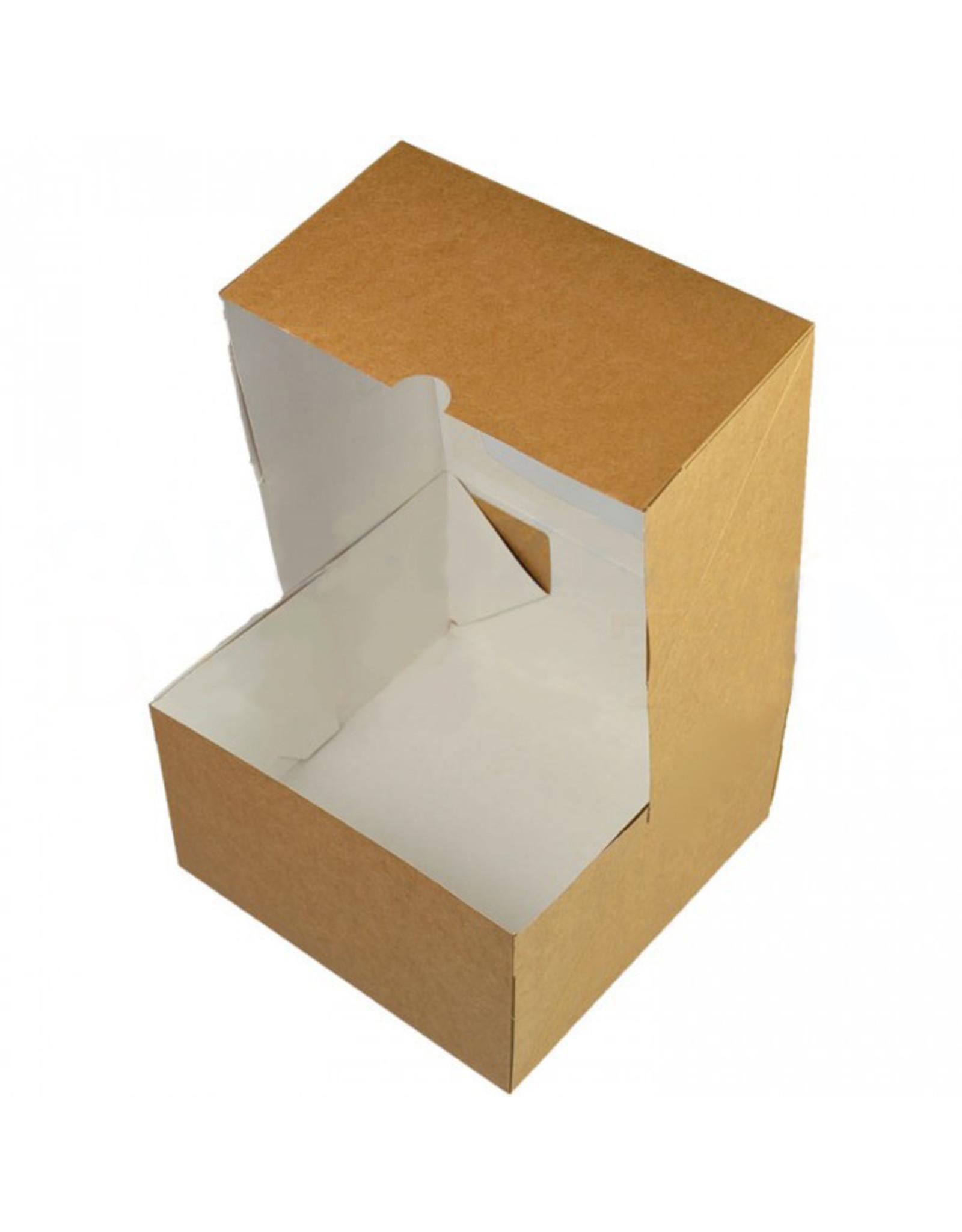 Kraft taartdoos - 178 x 178 x 100 mm (per 25 stuks)