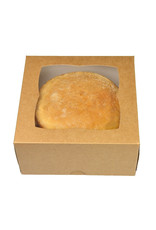 Kraft cake box - 178 x 178 x 100 mm (per 25 pieces)