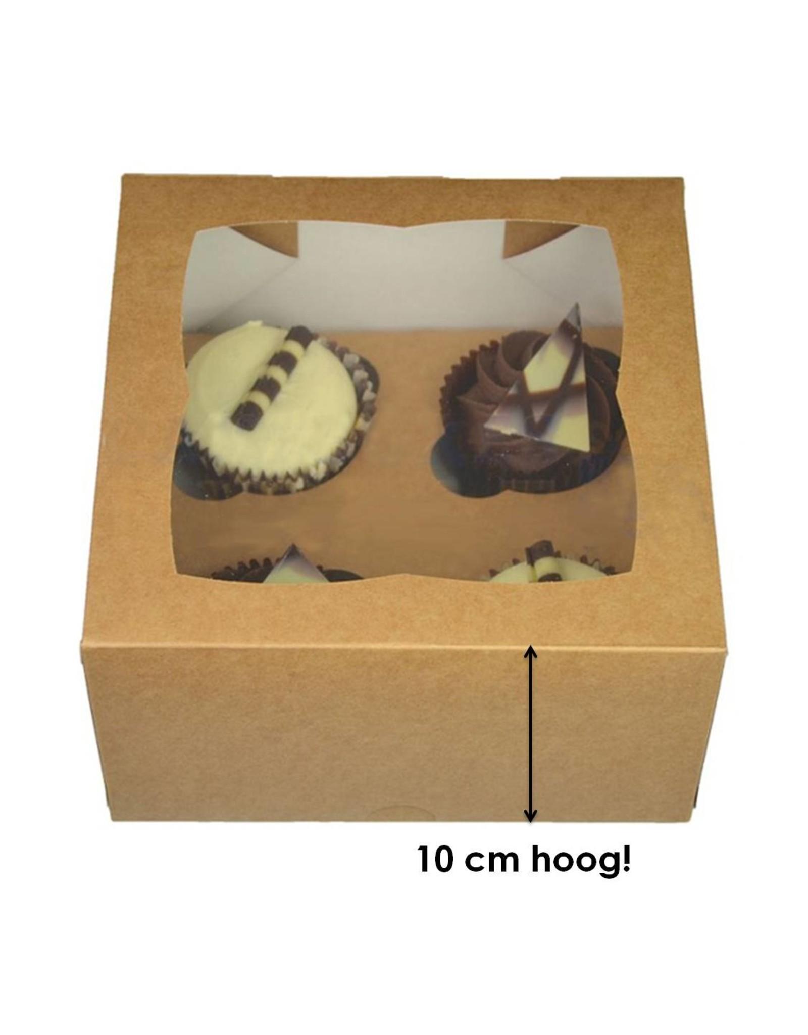 Kraft box for 4 cupcakes (per 25 pieces)
