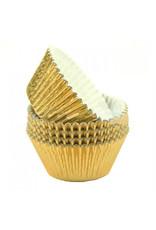 Metallic baking cups - gold (500 pcs.)