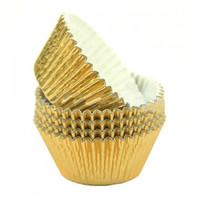 Metallic baking cups - goud (500 stuks)