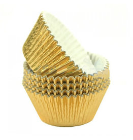 Cupcake cups folie - goud (500 stuks)