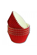 Cupcake cups folie - rood (500 stuks)