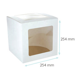 Economy tall cake box - 25x25x25 (10 pcs.)
