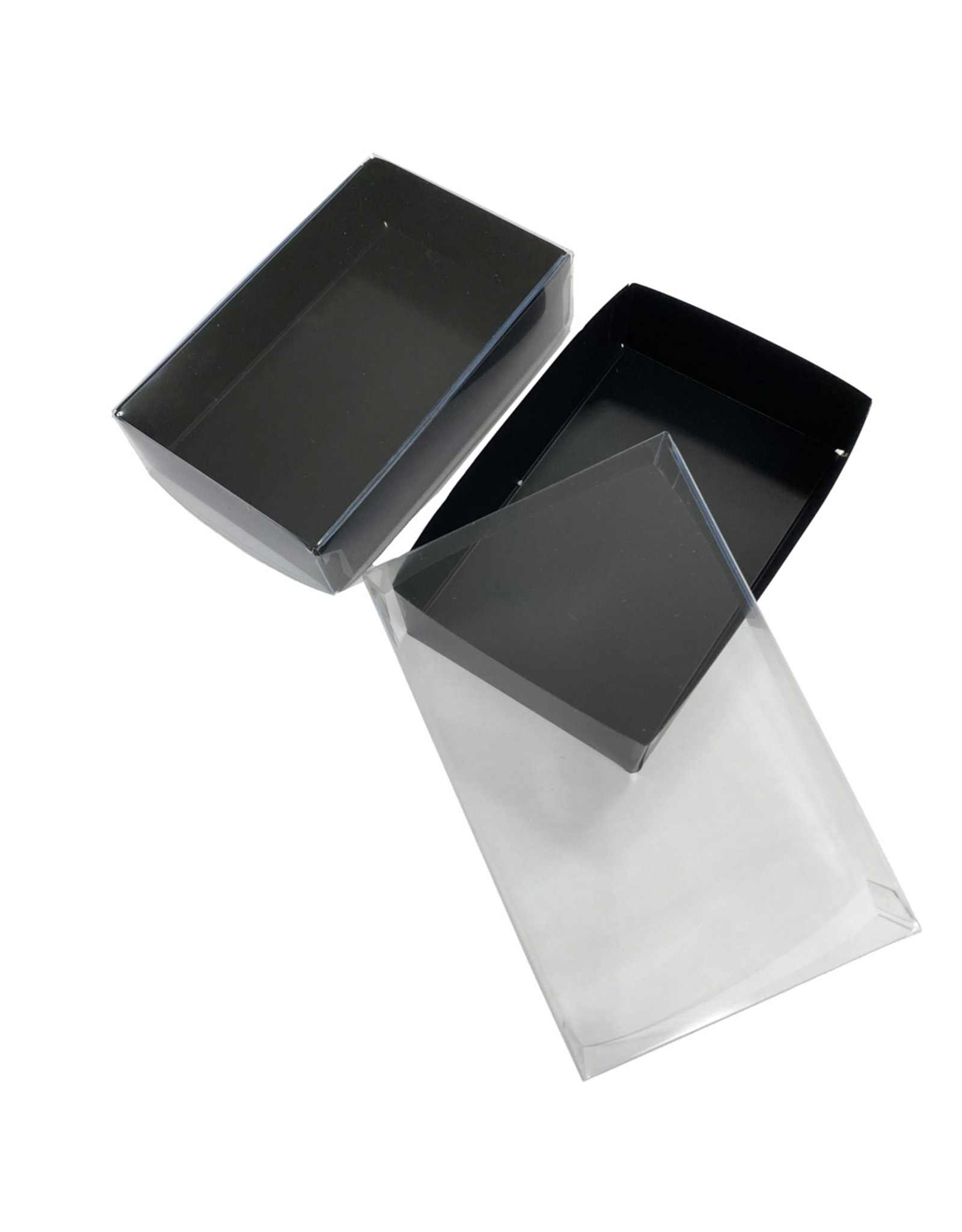 Black mini sweets box - 124x79x30mm (100 pieces)