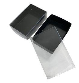 Zwarte mini sweets box -  124x79x30mm (100 st.)