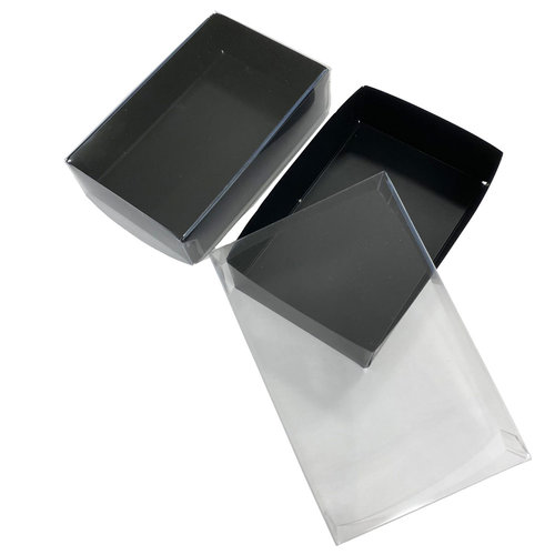 Black mini sweets box - 124x79x30mm (100 pieces)
