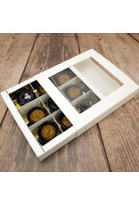 Sweets box with gold inlay - 145 x 135 x 30 mm (50 pieces)