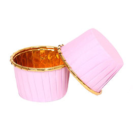 LAST STOCK Cupcake liners pink & gold (50 pcs.)