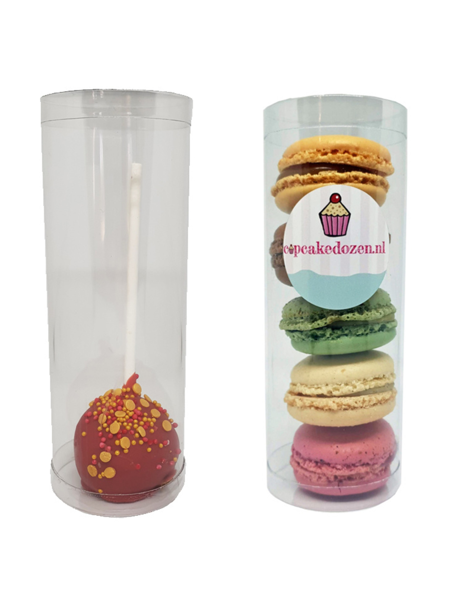 Tube for 5 macarons or 1 cakepop (per 100 pieces)