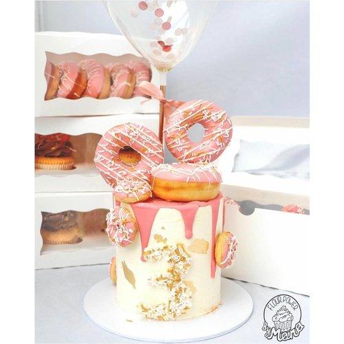 Witte doos voor 2 cupcakes  (per 25 stuks)